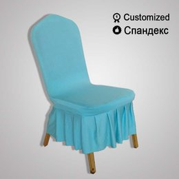 Wholesale Ivory Polyester Chair Covers - for weddings feast Antifouling white chair cover ceremony stretchable universal slipcover classic Event removable ivory Textiles stool cover