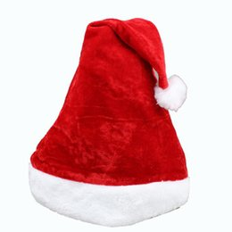 Wholesale Warm Santa Hat - Women and Men Christmas Hat Santa Claus Hats Warm Plush Cloth Adult Size For Festival Chris Cosplay