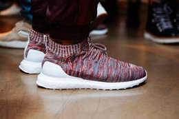 Wholesale Mid Running Shoes - 2017 Kith x Ultra Boost Mid Multicolor Uncaged Primeknit Running Shoes Sports Sneakers for Men and Women Primeknit Runner shoes UltraBoost