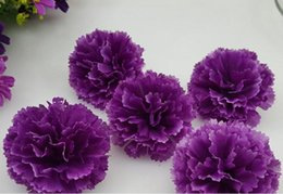 Wholesale Cloves Flower - Simulation of small carnations 5CM small clove flower corsage flower wreaths wedding background wall