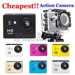 Wholesale cheap mini video cameras - SJ4000 style A9 Cheap One 2 Inch LCD Screen mini camera 1080P Full HD Action Camera 30M Waterproof Camcorders Helmet Sport DV Video