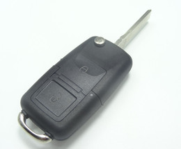 Wholesale Vw Beetle Keys - Flip Remote Key Case for VOLKSWAGEN VW Passat Golf Beetle GTI Rabbit 2 Button