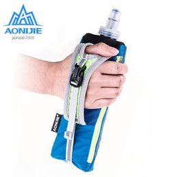 Wholesale Hand Held Water Bottle - Wholesale- AONIJIE Hiking Cycling Running Hand Hold Bag With Water Bottles For Men Women Marathon Kettle Pack Outdoor Sports Bag
