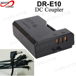 Wholesale Eos Adapter - Wholesale- DC Coupler DR-E10 with 60cm DC Plug Cable for Canon EOS 1100D 1200D Rebel T3 T5 Kiss X50 Adapter ACK-E10 ACKE10