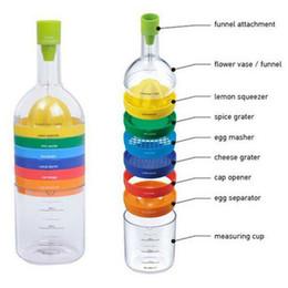 Wholesale Plastic Bottles Wholesale Kitchen - Cooking Tool Set Multi Functional 8 In 1 Multipurpose Kitchen Gadget Kitchen Tools Bottle Cooking Baking Juicer Veggie Fruit Chopper