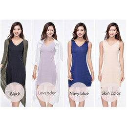Wholesale Lingerie Dress Big Size - Seamless Sexy Women Ice Silk Lingerie Dress Sleepwear & Dry Fast Bottoming V Collar Skirt Big Size