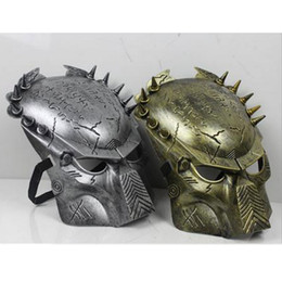 Wholesale Celebrity Movies - Wholesale- Movie Vs Predator Warrior Full Face Mask Masquerade Cosplay Costume Mask for Adult Kids Children