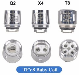 Wholesale baby scratch - 5pcs Authentic TFV8 baby replacement coils V8 T8 Q2 X4 style with AB scratch code retail business