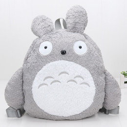 Wholesale Kids Comic Book - Totoro Plush bag Cute My Neighbor Totoro Backpacks School Book Bags Soft Plush Toy Kids Children Christmas Gifts