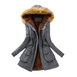 Wholesale Women Thicken Fleece Warm Coat - S5Q Women's Winter Loose Thicken Warm Coat Hooded Jacket Overcoat Long Outwear AAAGNG