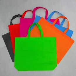 Wholesale Wholesale Foldable Grocery Bags - Wholesale- Wholesale Cotton Shopping Bag Foldable Reusable Grocery Bags Convenient Totes Bag Shopping Cotton Tote Bag red blue brown orange