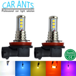 Wholesale H8 Led Fog Light Bulb - LED OSRAM 30W 1400LM Fog lights H8 H9 H11 H16(JP) 12V 24V auto parts super bright OEM ODM lighting bulbs car lamp Nonpolarity plug-n-play