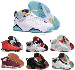 Wholesale French Lace Rose - 2017 New Cheap Retro 7 MenS Retro 7 Basketball Shoes Olympic Raptor Hares High Quality Bordeaux GG Cardinal French Blue Citrus Sneaker sport