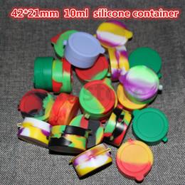 черная затяжка Скидка 42 * 21 мм 10 мл силиконовый контейнер для воска / масла, изготовленный на заказ силиконовый резиновый контейнер, Антипригарный силиконовый контейнер bho