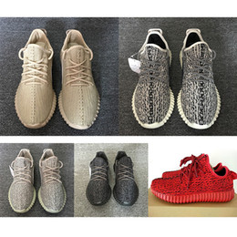 Wholesale Khaki Colour Sports Shoes - 2017 update SPLY-350 Boost V1 V2 Pirate Black red october Suede Good shape Mens WOMEN 350 Boost Running Shoes Sneaker 15 colour sport shoes