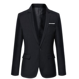 Wholesale New Men Fashion Look - Wholesale- Spring Autumn Fashion Style Good Quality Male Blazers New Arrival Slim Looking Casual Wear Suit Men Tops Solid Full Sleeve Cozy