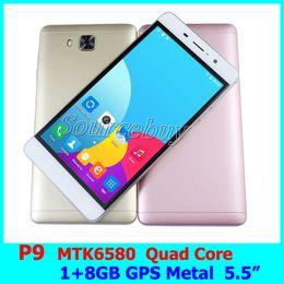 Wholesale Dual Sim Quad Core Gesture - 5.5 inch JIAKE P9 RAM 1GB ROM 8GB MTK6580 Quad Core Mobile Phones Android 6.0 Dual SIM Unlock Smartphone Gesture GPS