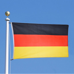 Wholesale Games Decor - German Flag 90*150cm Home Decor National Falgs Indoor Outdoor For Olympic Game World Cup Union Decoration Banner Germany Flags