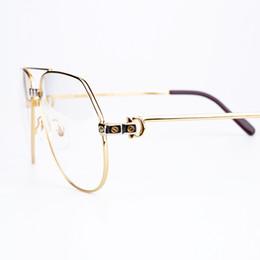 Wholesale Frame Bag Large - Top Quality Brand Designer Optical Eyeglasses Metal Frame Resin Lens Unisex Classic Large Frame Prescription Glasses With Original Box