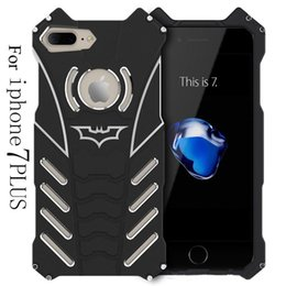 Wholesale Heavy Duty Mobile - BATMAN Series Luxury Doom Heavy Duty Armor Metal Aluminum Mobile Phone Cases For iPhone 7 5 5S 6 6S PLUS with retail package