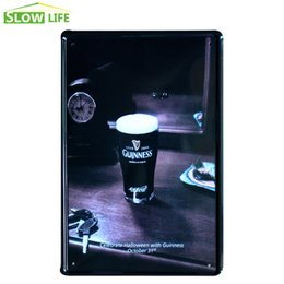 Wholesale Wholesale Guinness - Halloween Guinness Black Beer Tin Sign Bar Pub Wall Decor Metal Sign Vintage Home Decor Metal Plaque Retro Painting Art Poster 20170408#