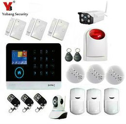 Wholesale Home Security Camera Kits - Wholesale- YobangSecurity WIFI GSM Wireless RFID Home Security Alarm System DIY Kit with Auto Dial Outdoor Wifi IP Camera Android IOS APP