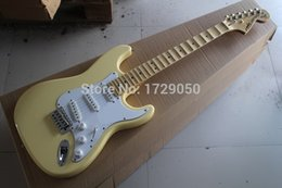 Wholesale Guitar Neck Headstock - Wholesale-Free shopping factory custom New Arrival ST scalloped neck Big headstock electric guitar Cream 1110 stratocaster