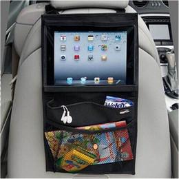 Wholesale Seat Back Storage Bags - Automobile Back Car Seat Organizer Holder Multi-Pocket Travel Storage Hanging Bag Diaper Bag Baby Kids Car Seat Ipad Bag