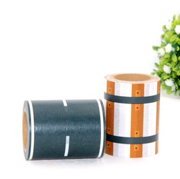 Wholesale Traffic Toys - Wholesale- 2016 New 1X 60mm * 10m Scotch Tape Adhesive Railway Road Washi Tapes,Wide Traffic Sticky Paper Tape for kids toy car play