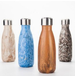 Wholesale Coffee Cup Warm - 260ML Cola Shaped Water Bottle Vacuum Flask 304 Stainless Steel Sport Outdoor Travel Thermos Coffee Cup Coke Bottle OOA2053