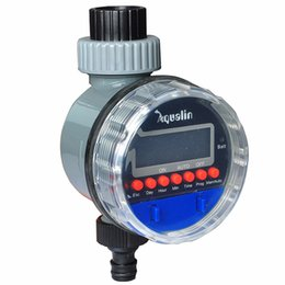 Wholesale Valves Ball - Automatic Electronic LCD Display Home Ball Valve Water Timer Garden Watering Timer Irrigation Controller System #21026