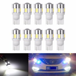 Wholesale Car Map Lights - 20pcs T10 W5W 168 194 6 SMD 5630 LED Car Wedge Side Light Bulb Lamp For Car Tail Light Side Parking Dome Door Map Lighting