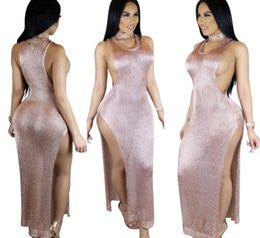 Wholesale Sexy Hairy - Hairy open nightclub dress party dress special dress