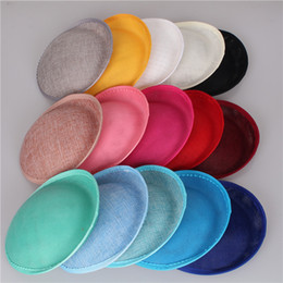 Wholesale Diy Hats Making - 15 color for select 20CM SINAMAY fascinator base making fascinators party hats DIY millinery cocktail headwear wedding hairstyle SYB01