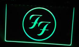 Wholesale Led Light Roll Colors - LS227-g Foo Fighters Rock n Roll Punk Bar Light Sign Decor Free Shipping Dropshipping Wholesale 6 colors to choose