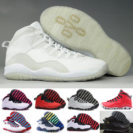 Wholesale Green Chi - Retro 10 Paris NYC CHI Rio LA Hornets City Pack Vivid Pink 10s Men Basketball Shoes Sneakers Retro X Sports Shoes With Box