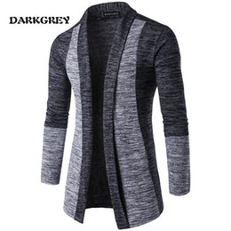 Wholesale korean sweater warm - free shipping - Spring and summer new men classic cardigan stitching hit color Men's Sweaters Korean Slim sweater warm wild cardigan jacket
