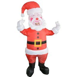 Wholesale Blow Up Christmas - 2017 New hot sell Inflatable Funny Christmas Santa Claus Inflatable Costume Jumpsuit Blow Up Suit