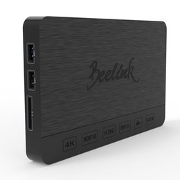 Wholesale Sata 2gb - Beelink SEA1 Android 6.0 TV Box Realtek 1295DD 2G 16G H265 UHD 4K VP9 3D DDR4 Mini PC Support SATA 3.0 Hard Disk Dual WiFi 1000M