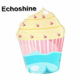 Wholesale Ice Cream Purse - Wholesale- 2016 ice cream shape Cute Fashion Cartoon Coin Purse Wallet Bag Change Pouch Key Holder Clutch Bag card holderwholesale carteira