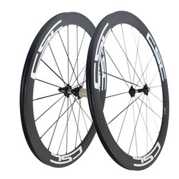 Wholesale rear road - CSC Carbon Road Bike wheels 50mm Clincher wheelset Novatec hub with CN spokes Basalt Brake Surface Carbon road bicycle bike wheels