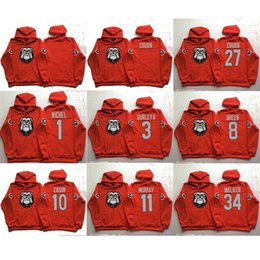 Wholesale Men hoodie Georgia Bulldogs Michel Gurley ii Green Eason Murray Chubb Walker red pullover sweatshirt college football