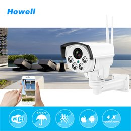 Wholesale Outdoor Cctv Cameras - Howell Wireless IP Bullet Security CCTV Camera HD 960P 4X Optical Zoom Surveillance Wifi CCTV Camera IP65 Waterproof Outdoor PTZ Camara