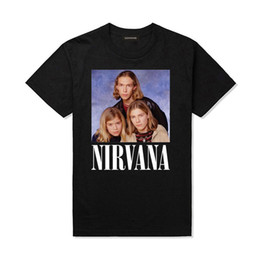 Wholesale Vintage Band Tees - 2017 Hanson Nirvana Parody Vintage T Shirts Unisex Funny Parody Pop Rock Music T-Shirts Fashion Music Band Steetwear Tops Tees