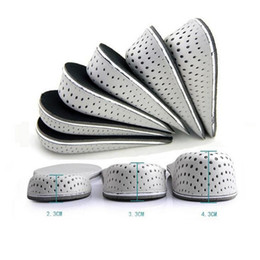 Wholesale Male Shoe Pad - Unisex Increasing Orthotics Half Insole Pad Height Cushion Taller Male Female Breathable Footwear Shoes Height Cushion Taller ZA1613