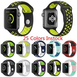 Wholesale Watch Rubber Wristbands - Factory Supply Hotsale Rubber Strap Watchband Brand watchband with 38mm 42mm Silicone Wristband with Watch Sport Edition holes