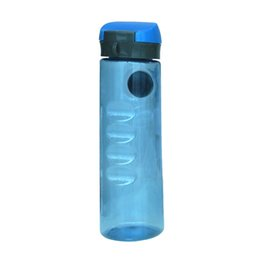 Wholesale Shipping Box Lid - High Quality Blue Plastic Sport Water Bottle with Precise Compass White Box Packing Custom Logo Fast shipping