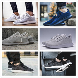 Wholesale White Shadow Box - Hot Sale 2017 Mens Womens Originals Tubular Shadow Knit Core Black White Cardboard Sneakers Running Shoes 350 boost 3D Sneakers US 5-10