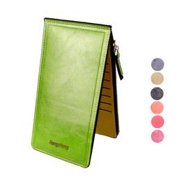 Wholesale Passport Holder Pink Leather - Wholesale- New2017 NEW Fashion Women Wallet High Qulity PU leather Ultrathin Multifunctional Women Purse Handbags Card Holders