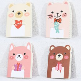 Wholesale Bears Book - Wholesale- Kawaii Bear Pattern Kraft Paper Notebook Journal Diary Notepad Soft Copybook Daily Memos Pads Composition Book Cute Stationery